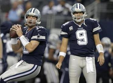 With Tony Romo's status in doubt because of a herniated disk in his back, Kyle Orton (left) could make his first start in two years for Dallas.